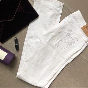 🆕 Hollister White Distressed Skinny Jeans